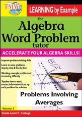 Algebra Word Problem: Problems Involving Averages DVD