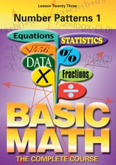 Basic Math Series: Number Patterns 1 DVD