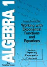 Algebra 1 - The Complete Course: Working with Exponential Functions and Equations DVD