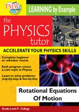 Physics Tutor: Rotational Equations Of Motion DVD