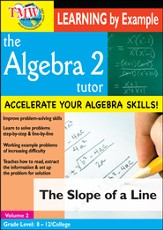 Algebra 2 Tutor: Slope Of A Line DVD