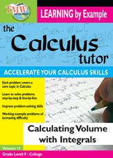 Calculus Tutor: Calculating Volume With Integrals DVD