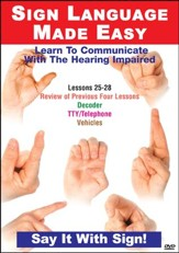 Sign Language Series Lessons 25-28: Decoder Devices DVD