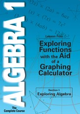 Algebra 1 - The Complete Course: Exploring Functions with the Aid of a Graphing Calculator DVD