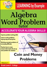 Algebra Word Problem: Coin and Money Problems DVD