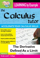 Calculus Tutor: Derivative Defined As A Limit DVD