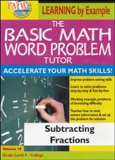 Basic Math Word Problem Tutor: Subtracting Fractions DVD