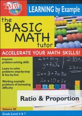 Basic Math Tutor: Ratio & Proportion DVD