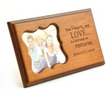 Personalized, Two Hearts One Love, Photo Frame, Cherry