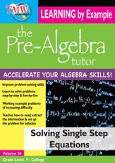 Solving Single Step Equations DVD