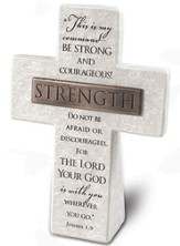 Strength Cross Plaque
