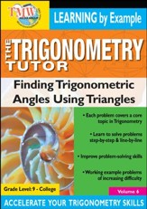 Trigonometry Tutor: Finding Trig Functions Using Triangles DVD