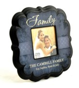 Personalized, Family 4X4 Photo Frame, Blue