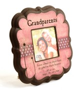 Personalized, Grandparents 4X4 Photo Frame, Pink