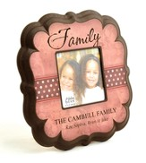 Personalized, Family 4X4 Photo Frame, Pink