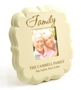 Personalized, Family 4X4 Photo Frame, White