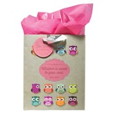 Owl, Wisdom Is Sweet To Your Soul Gift Bag, Medium