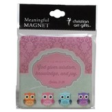 Owl, God Gives Wisdom Magnet