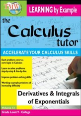 Calculus Tutor: Derivatives and Integrals Of Exponentials DVD