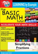 Basic Math Tutor: Simplifying Fractions DVD