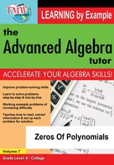 Zeros Of Polynomials DVD