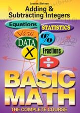 Basic Math Series: Adding & Subtracting Integers DVD