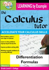 Calculus Tutor: Differentiation Formulas DVD