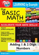Basic Math Tutor: Adding 1 & 2 Digit Numbers DVD