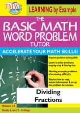 Basic Math Word Problem Tutor: Dividing Fractions DVD