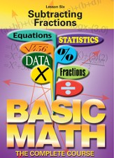 Basic Math Series: Subtracting Fractions DVD