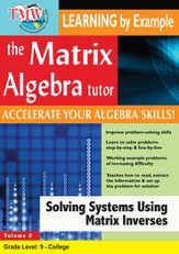 Solving Systems Using Matrix Inverses DVD