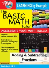 Basic Math Tutor: Adding & Subtracting Fractions DVD