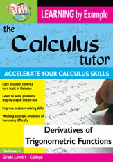 Calculus Tutor: Derivatives Of Trigonometric Functions DVD
