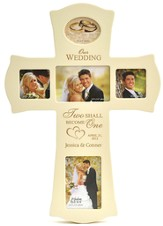 Personalized, Wedding, Photo Cross, White
