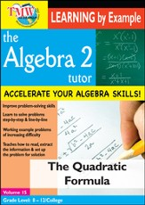 Algebra 2 Tutor: Quadratic Formula DVD