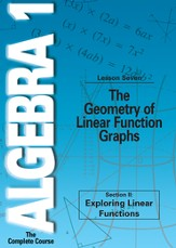 Algebra 1 - The Complete Course: The Geometry of Linear Function Graphs DVD
