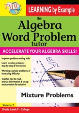 Algebra Word Problem: Mixture Problems DVD