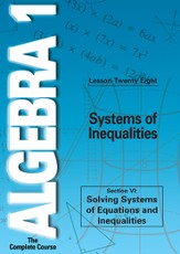 Algebra 1 - The Complete Course: Systems of Inequalities DVD