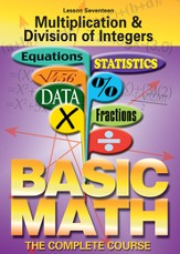 Basic Math Series: Multiplication & Division of Integers DVD