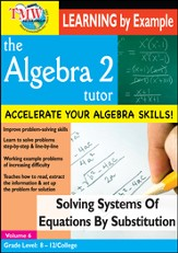 Algebra 2 Tutor: Solving Systems Of Equations By Substitution DVD