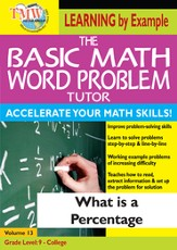 Basic Math Word Problem Tutor: What Is a Percentage DVD