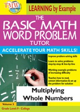 Basic Math Word Problem Tutor: Multiplying Whole Numbers DVD