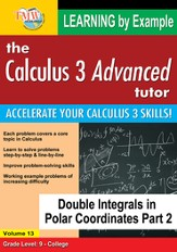 Double Integrals in Polar Coordinates Part 2 DVD