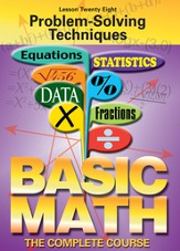 Basic Math Series: Problem-Solving Techniques DVD