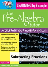 Subtracting Fractions DVD
