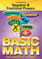 Basic Math Series: Negative & Fractional Powers DVD