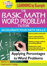 Basic Math Word Problem Tutor: Applying Percentages to Word Problems DVD