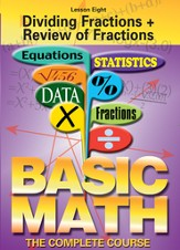 Basic Math Series: Dividing Fractions + Review of Fractions DVD
