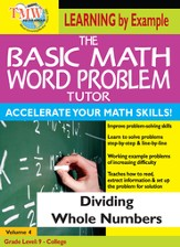 Basic Math Word Problem Tutor: Dividing Whole Numbers DVD