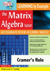 Cramer's Rule DVD